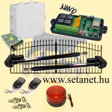 SETA-1 (478) Kétszárnyas kapunyito szett  WIFI  +Konzolok +Telefonos applikáció  !!