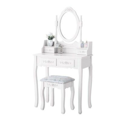 Kozmetikai fésülködő és sminkasztal székkel MONIKA TLc01