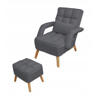 Dönthető háttámlás fotellábtartóval. (FR02dg) grey