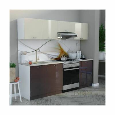 BRIGITTE magasfényű konyhabútor 220 cm