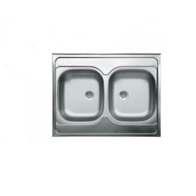 Duplatálcás mosogató 80x60