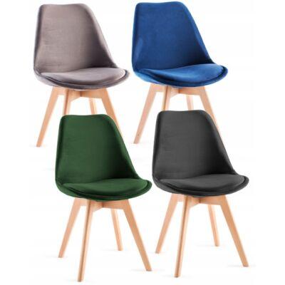Velur szék skandináv stilus 1db