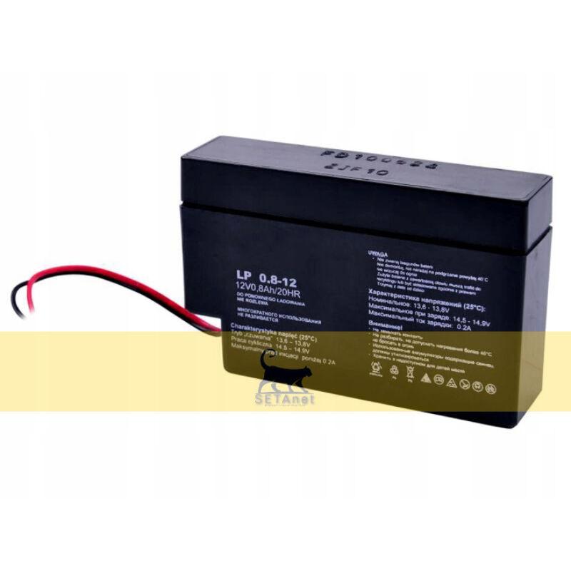 Akkumlátor tápegység kapunyitóhoz (0,7Ah)