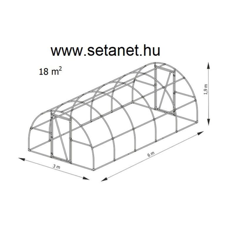 FÓLIASÁTOR 6x3m   LEM  18m2
