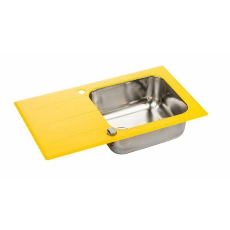 Üveg mosogatótálca Sárga