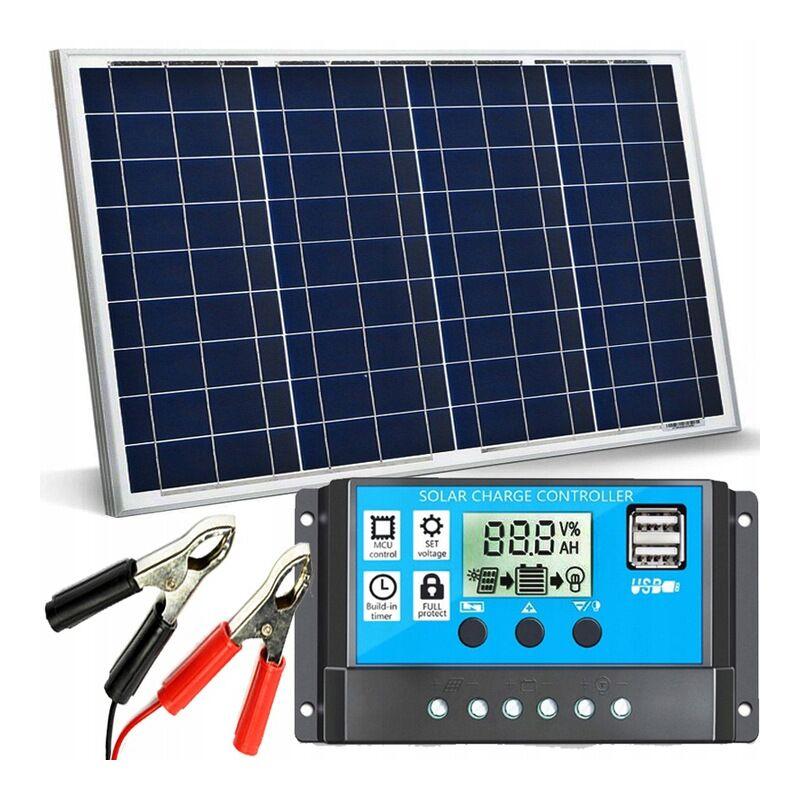 12V 30 Watt napelemes töltő szett töltésvezérlővel 30A