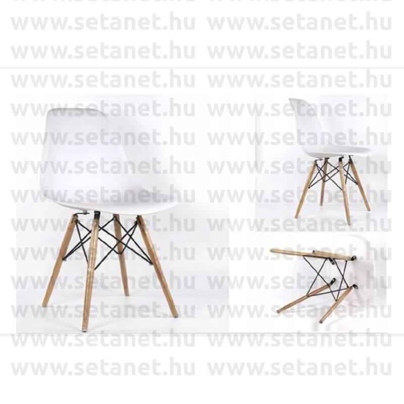 Skandináv szék  Fehér /Fekete  4db